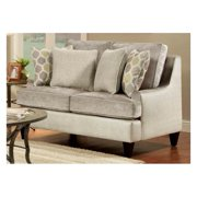 Contemporary Loveseat in Lavender Color