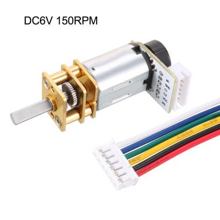 6V 150RPM DC Gear Motor w Encoder Speed Velocity Measurement for Model Plane - image 4 of 6