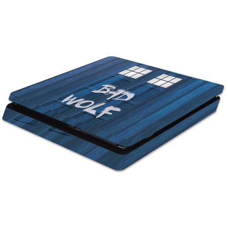Skin Decal Wrap for Sony PlayStation 4 Slim PS4 Time Lord Box