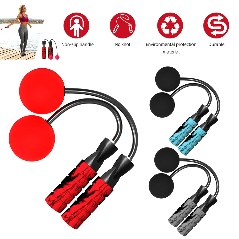 1X Jump Rope Cordless Skipping Ropeless Adjustable Weighted Training Exercise US