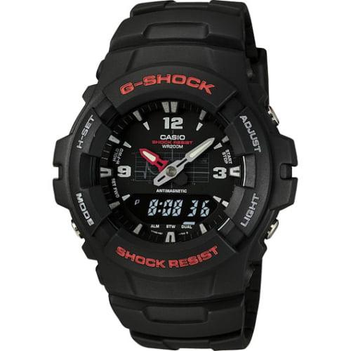 Casio G-Shock Ana-Digi G100-1B Ana-Digi Classic Wristwatch