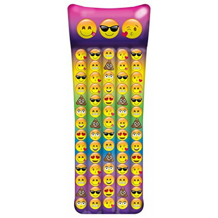 Emoji Inflatable Pool Raft - Inflates To Over 65