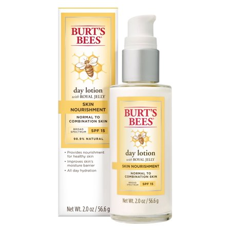 Burt's Bees Skin Nourishment Day Lotion With Spf 15 For Normal To Combination Skin, 2 (Best Day Moisturiser For Combination Skin)