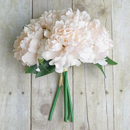 BalsaCircle 11-Inch Silk Artificial Peony Flowers Bouquet - Wedding Party Centerpieces Decorations Event Discounted Supplies