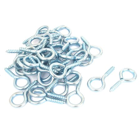 Uxcell 40 Pcs Screw Hook Eye for Curtain Net Wire Spiral Cup Hanging Light