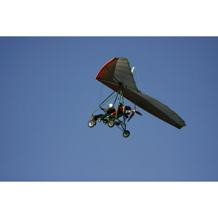 Free Flight Gliders (Canvas Print Hang Glider Flight Trike Stretched Canvas 10 x)