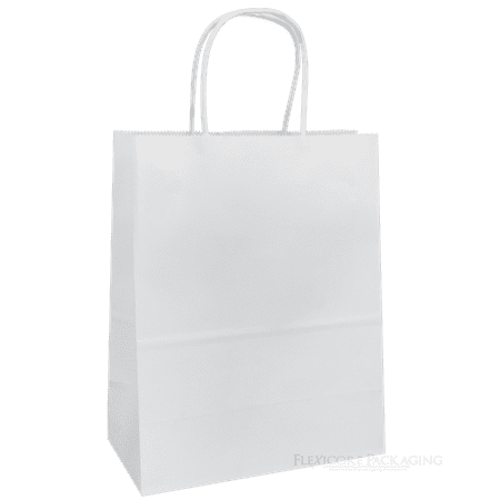 White Kraft Paper Bags, 8