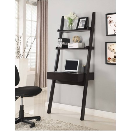 (Coaster Company Wall-Leaning Ladder Desk, Cappuccino)