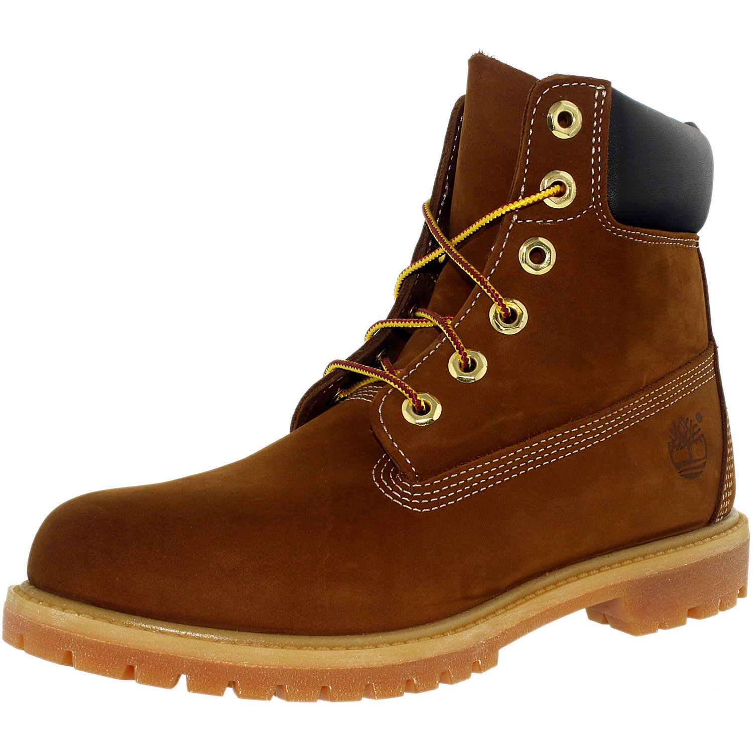 Timberland Women's 6 Inch Premium Boot Leather Rust Brown High Top Boot 6.5W