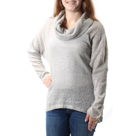 Audrey Sweater (AUDREY HEPBURN Womens Gray Long Sleeve Cowl Neck Hi-Lo Sweater  Size: M )