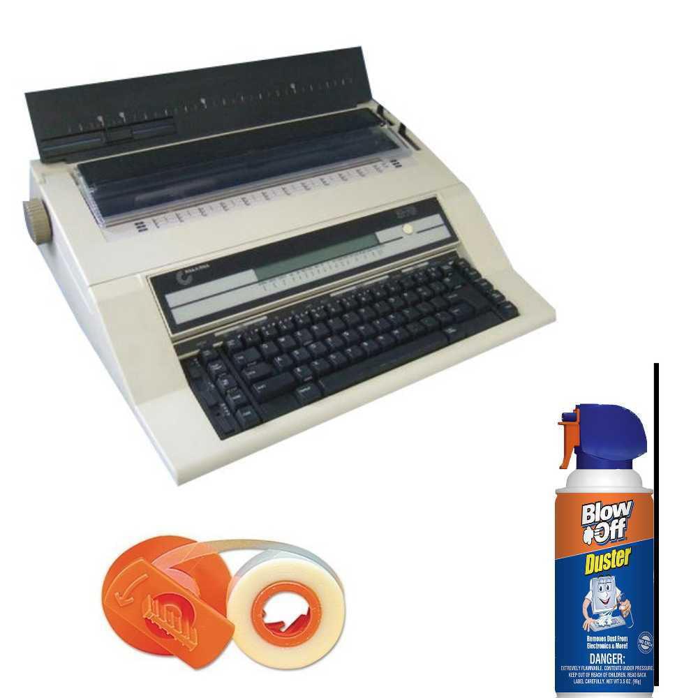 Nakajima AE-740 Electronic Typewriter with Memory and Display Bundle