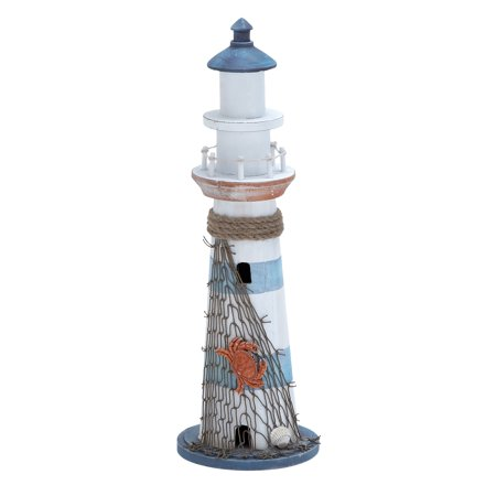 Light Horse - Wood Lighthouse Accented With Marine Theme Details
