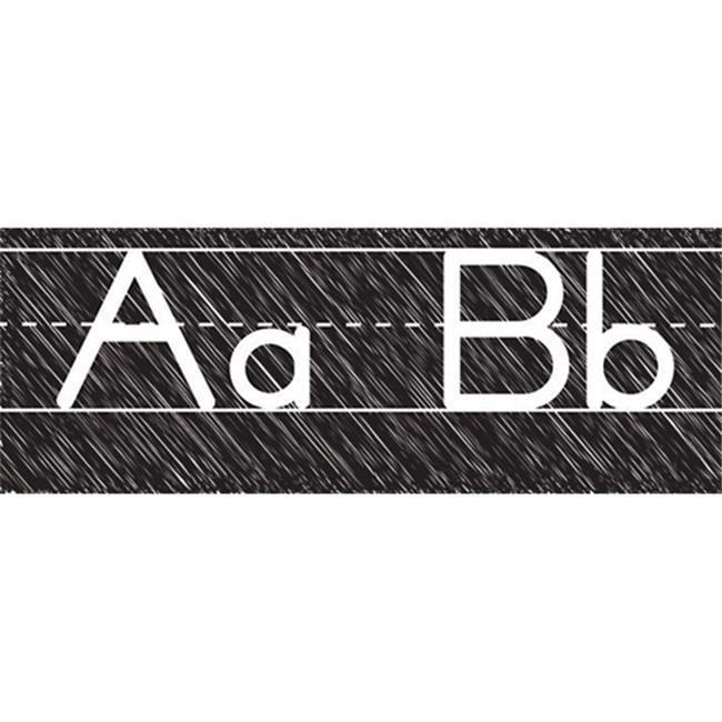 Ashley Productions ASH19019 Scribble Chalk Manuscript Magnetic Alphabet Line by Ashley Productions