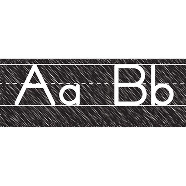 Ashley Productions ASH19019 Scribble Chalk Manuscript Magnetic Alphabet Line
