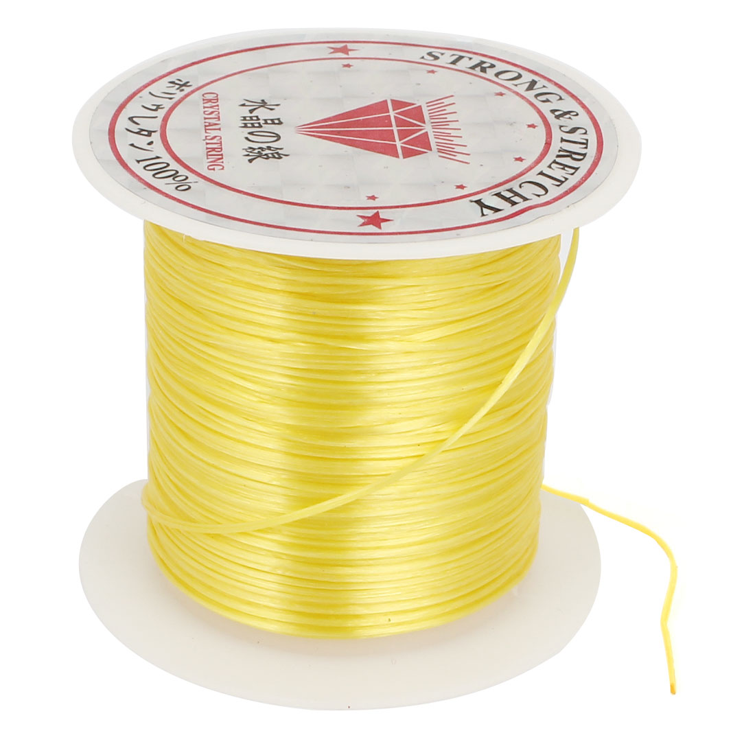 Yellow Elastic Stretch Beading String Thread Cord Wire 1mm for Jewelry Making