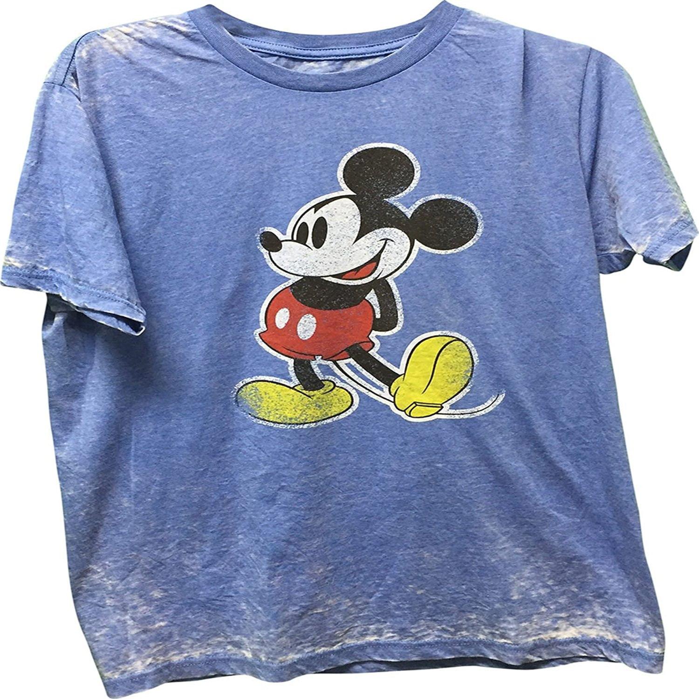 Mickey Mouse Blue Classic Men's T-Shirt Blue Medium