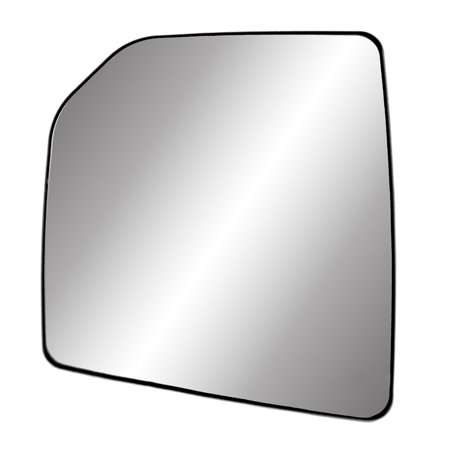 33307 - Fit System Driver Side Heated Mirror Glass w/ backing plate, Ford F150 15-18, single lens, w/ o tow pkg, w/ o spot mirror, w/ o auto dimming, w/ o blind spot detection system ()