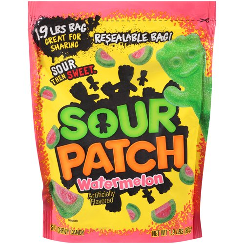 Sour Patch Watermelon Soft & Chewy Candy, 1.9 lbs
