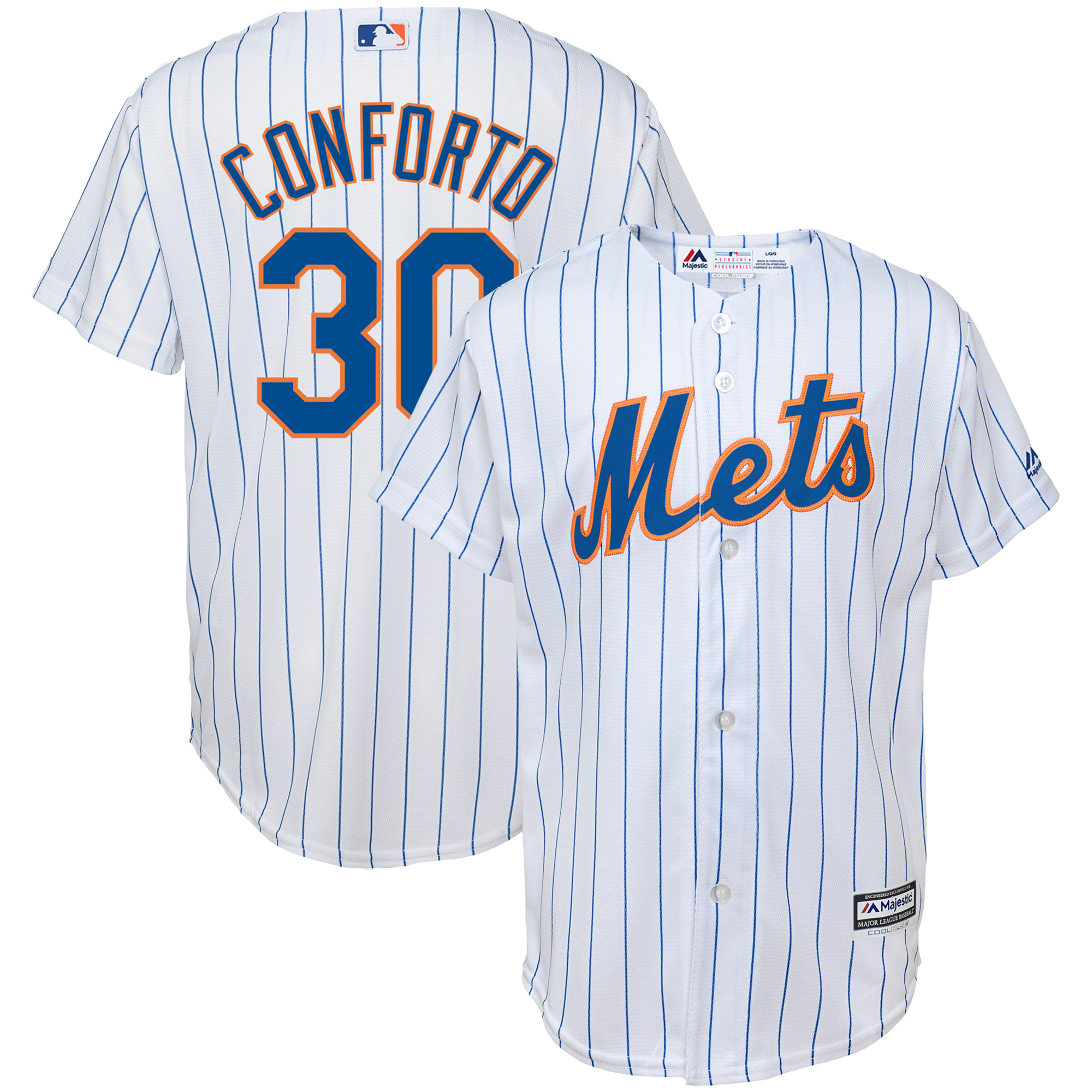Michael Conforto New York Mets Majestic Youth Home Official Cool Base Replica Player Jersey - White