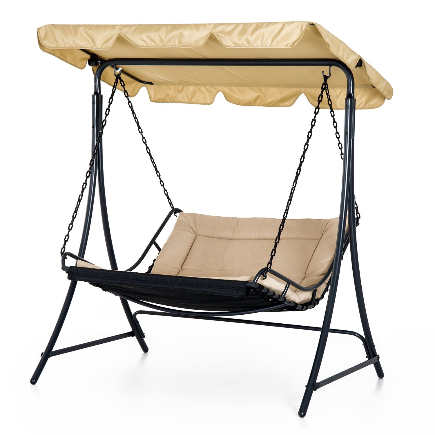 Lovely Covered Hanging Outdoor Patio Swing Hammock Chair Bed Lounger Canopy