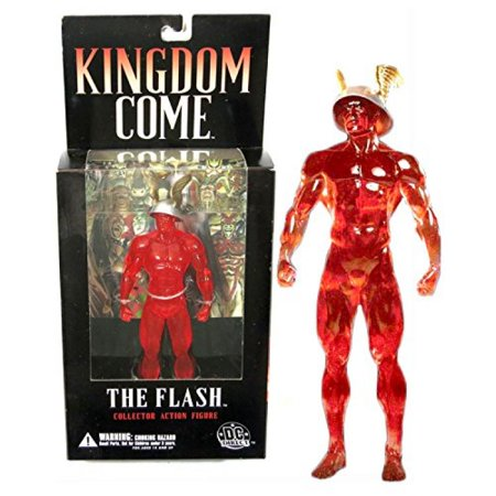 "DC Direct Year 2004 DC Comics Alex Ross ""Kingdom Come"" Comic Series 7-1/2 Inch Tall Collector Action Figure - THE FLASH with Wing Helmet"