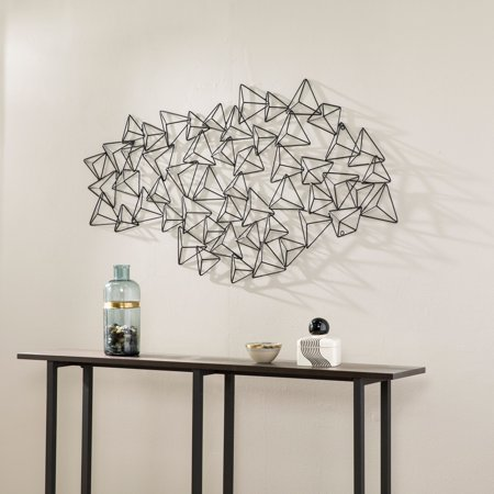 Southern Enterprises Farraja Geometric Abstract Wall Sculpture, Black