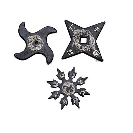 Set of 3 Ninja Rubber Throwing Stars