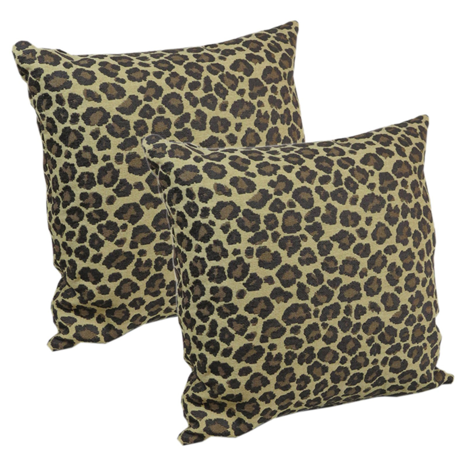 Klear Vu Faux Phat Cat Animal Skin Decorative Throw Pillow Set Of 2 Walmart Com Walmart Com