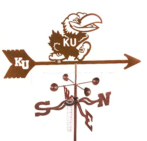 Kansas University Jayhawks Rain Gauge Garden Stake Weathervane by