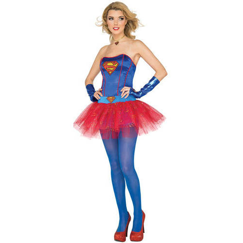 Supergirl Corset Top Adult Halloween Accessory