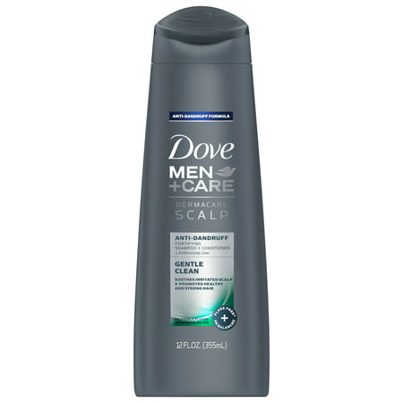 Dove Men+Care Dermacare Scalp 2 in 1 Shampoo & Conditioner Gentle Clean 12 oz