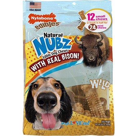Bison Ribs - Nylabone Natural Nubz Wild Bison