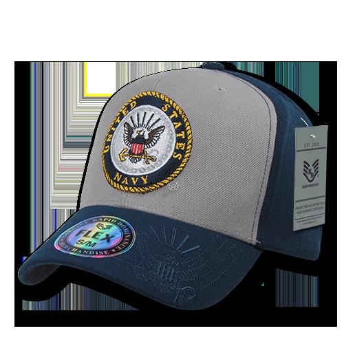 Flex Military Caps, Navy, Grey, S_M