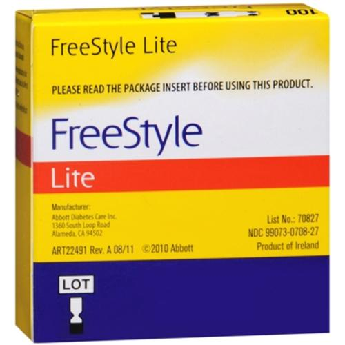 FreeStyle Lite Blood Glucose Test Strips 100 Each (Pack of 4)