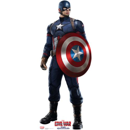 Captain America Cardboard Standup Decoration (Each) - Party Supplies