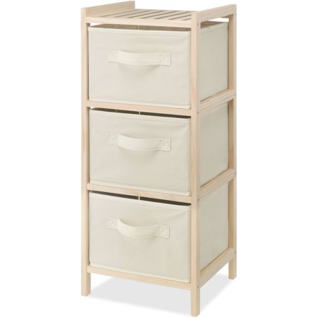 Whitmor Inc 3 Drawer Wood Chest Cream