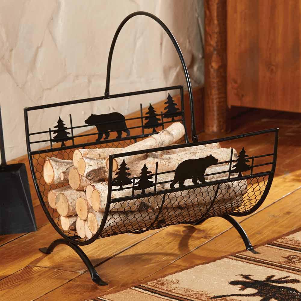 Etonnant Bear Metal Firewood/Log Holder   Walmart.com