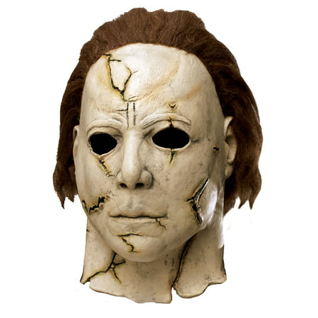 Cheap Zombie Halloween Masks (Halloween Rob Zombie Michael Myers Mask for Adults, One Size, Latex)