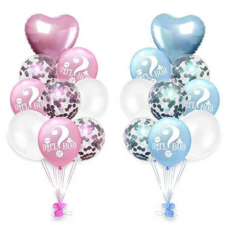 Gender Neutral Baby Shower Party Decorations (KABOER He or She Gender Reveal Latex Party Balloons Baby Girl Boy Shower)