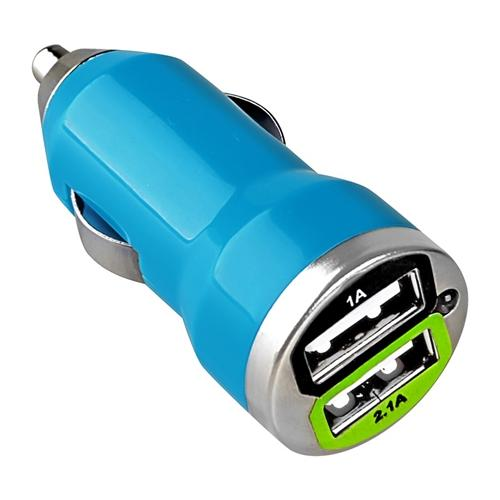 USB Car Charger by Insten 2-pack Blue Universal Dual Port USB Car Charger 2A Adapter For iPhone XS X 8 7 6s Plus 5S SE Samsung Galaxy S9 S8 S7 Moto E4 Plus G5 G4 Play ZTE Majesty Pro Huawei Ascend XT2