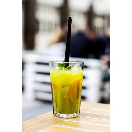 Laminated Poster Refreshment Lemonade Juice Drink Glass Beverage Poster Print 24 X 36