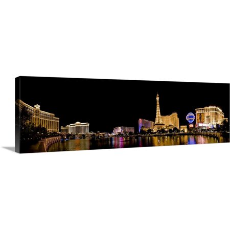 Great BIG Canvas | Brent Bergherm Premium Thick-Wrap Canvas entitled NV, Las Vegas. Panoramic view over the Bellagio