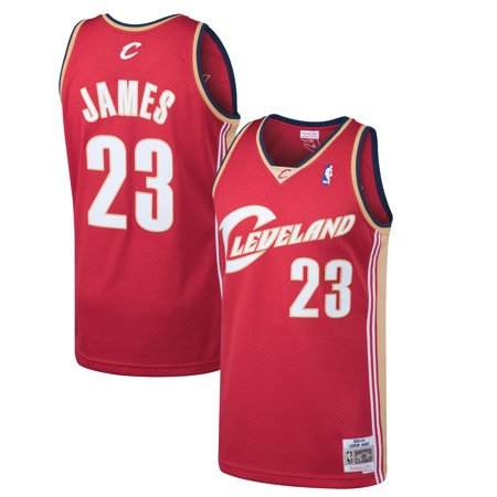 New Cavaliers Jersey (LeBron James Cleveland Cavaliers Mitchell & Ness 2003-04 Hardwood Classics Swingman Jersey - Wine)