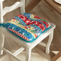 "The Pioneer Woman 16"" x 17"" Dazzling Dahlias Quilted Chair Pad"