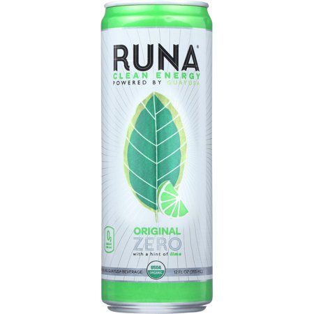 Runa Guayusa Beverage  Sparkling  Original Zero With A Hint Of Lime  12 Oz  Pack Of 12