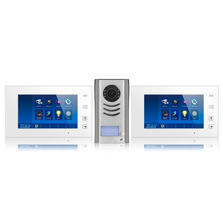 Video Intercom Entry System DK4721 1 Apartment Audio/Video Kit with 2 Touch Screen