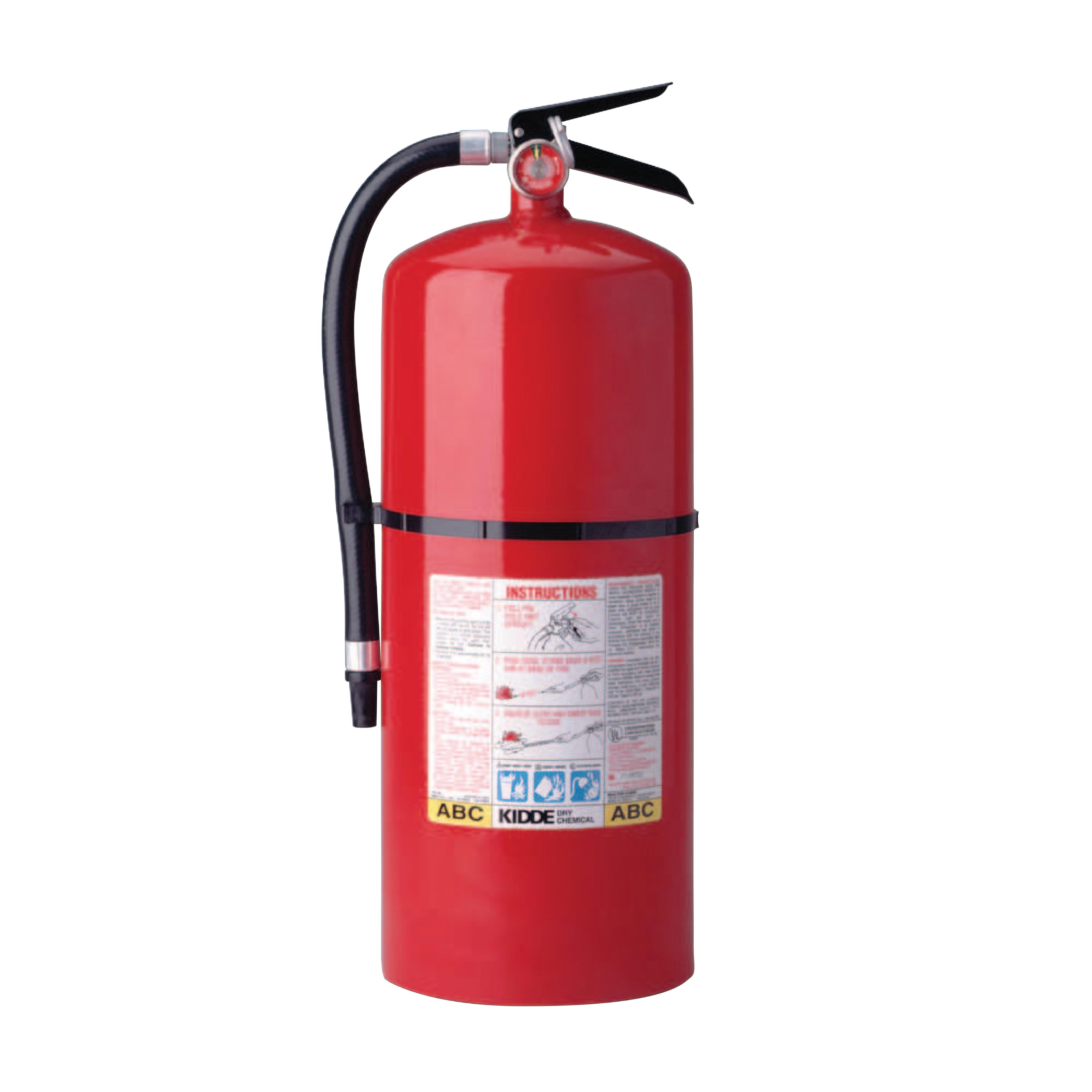 Kidde ProLine Multi-Purpose Dry Chemical Fire Extinguishers-ABC Type, 18 lb Cap. Wt.