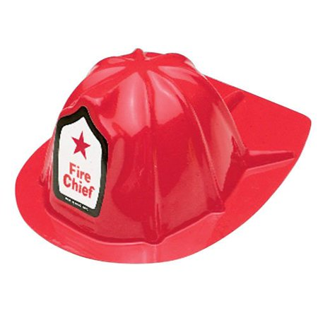 US TOY GROUP LLC -Kids Firefighter Helmets, Plastic, Package of 12 - Firefighter Helment