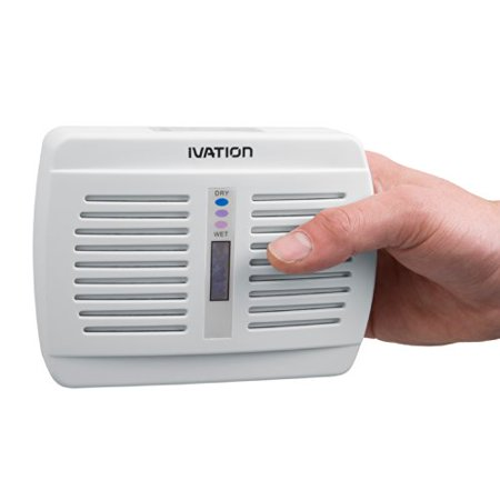Ivation Renewable/Rechargeable Wireless Mini Dehumidifier - Suited for Closets, Boats, RVs, Lockers & Gun Safes - Uses Non-Toxic Silica Gel Crystals