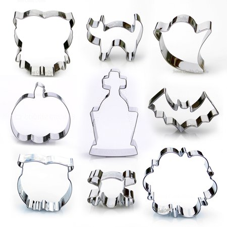 Halloween Cookie Cutter Set - 9 Piece Stainless Steel](Mini Cookie Cutters Halloween)
